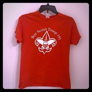 🔴10/$25 Boy Scout Troop 191 Red Tee S